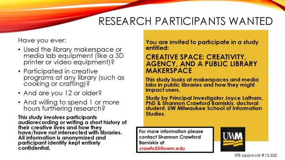 Research PARTICIPANTs wanted creative spaces_revised