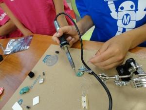 soldering hands